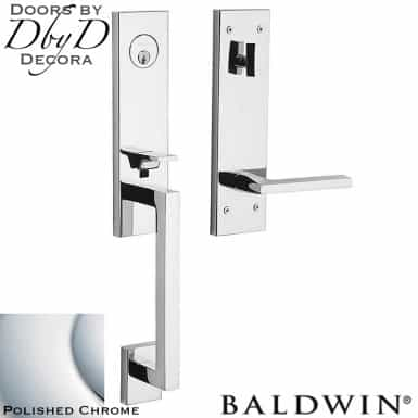 Baldwin polished chrome minneapolis 3/4 handleset.