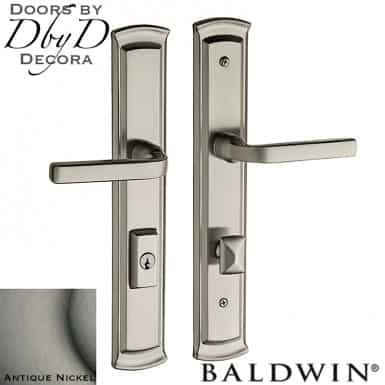 Baldwin antique nickel richland multi-point entry set.