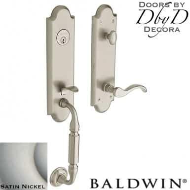 Baldwin satin nickel manchester handleset.