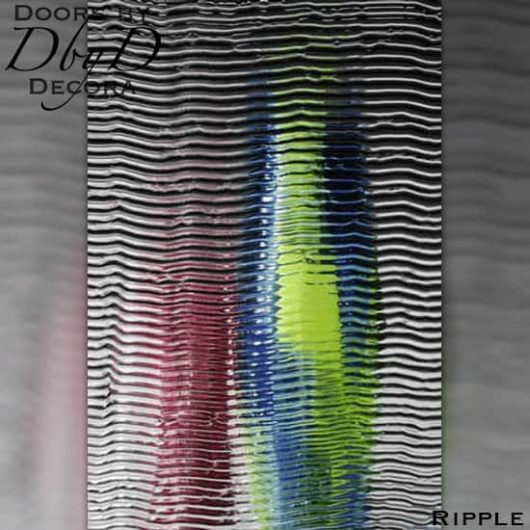 Spectrum ripple glass.