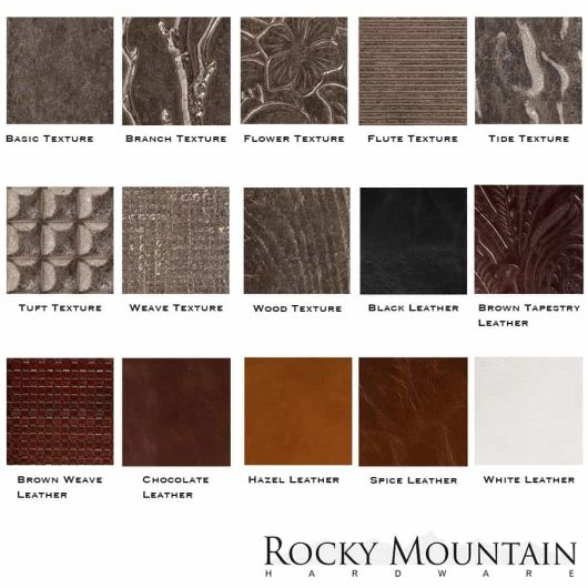Rocky Mountain texture finishes.