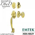 EMtek lifetime finish saratoga handleset.