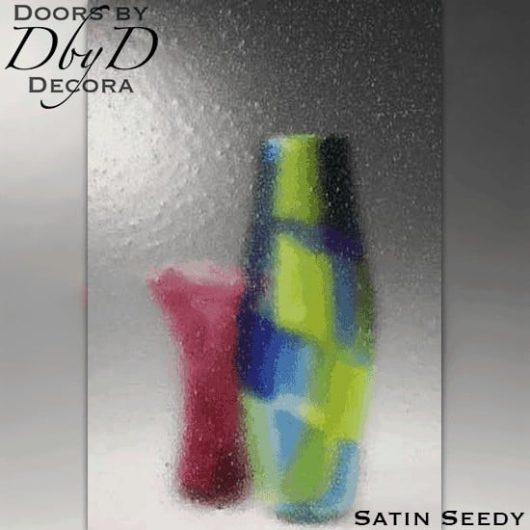Spectrum satin seedy glass.