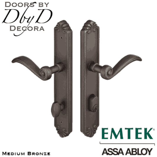 Emtek medium bronze tuscany multi-point entry set