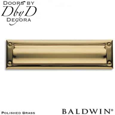 Baldwin polished brass 0014 mail slot.