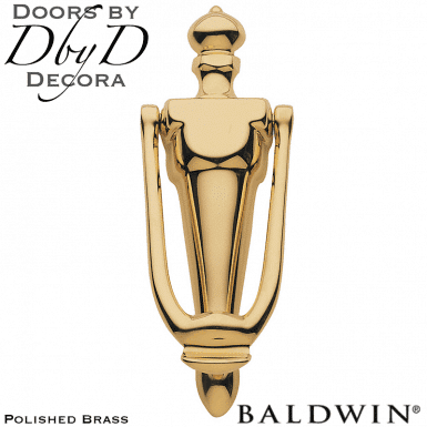 Baldwin polished brass 0106 door knocker.