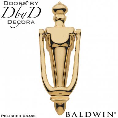 Baldwin polished brass 0106 door knocker.