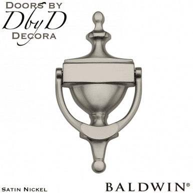 Baldwin satin nickel 0110 door knocker.