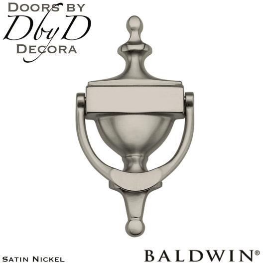 Baldwin satin nickel 0110 door knocker.