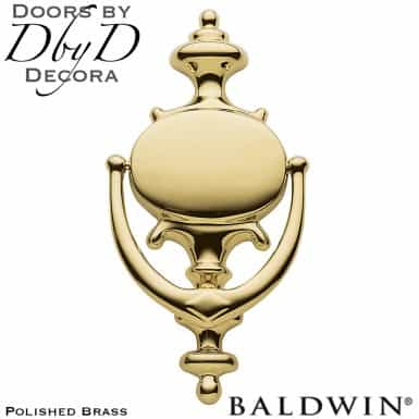 Baldwin polished brass colonial door knocker.