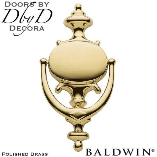 Baldwin polished brass colonial door knocker.