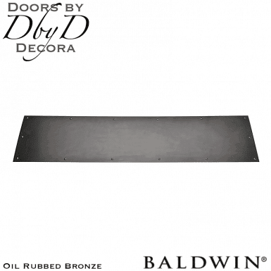 Baldwin oil rubbed bronze 2000 kick plate.