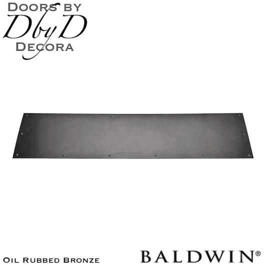 Baldwin oil rubbed bronze 2000 kick plate.