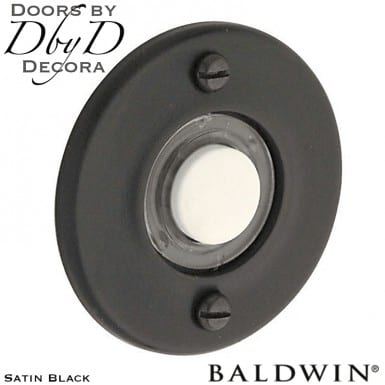 Baldwin satin black door bell button