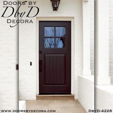 craftsman four lite door with glass