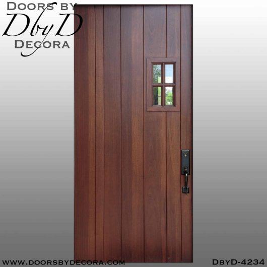 craftsman door with small window