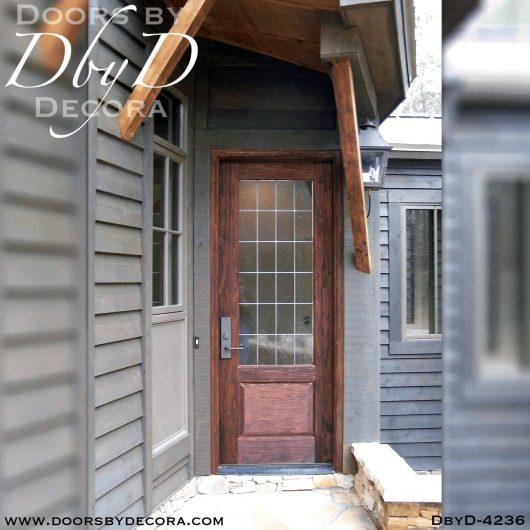 craftsman leaded glass door
