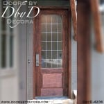 craftsman leaded glass door