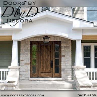 craftsman solid door with side lites