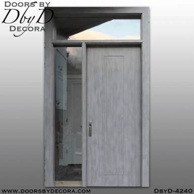 craftsman flush door with molding
