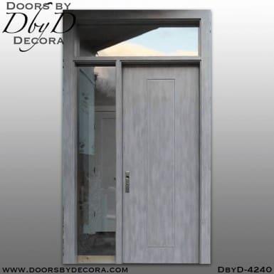 craftsman flush door with molding