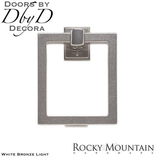 Rocky Mountain white bronze light dk8 square door knocker.
