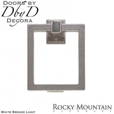 Rocky Mountain white bronze light dk8 square door knocker.