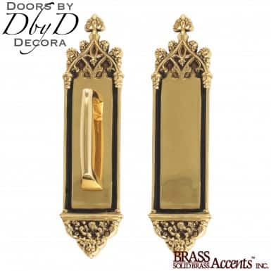 Brass Accents gothic push/pull set.