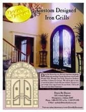 Doors by Decora iron grill designs.