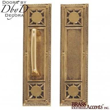 Brass Accents nantucket push/pull set.