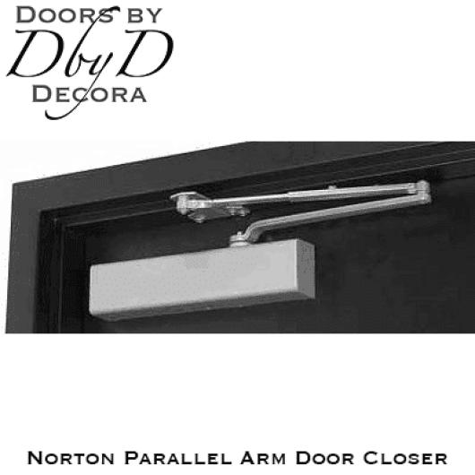 Norton parallel arm door closer.