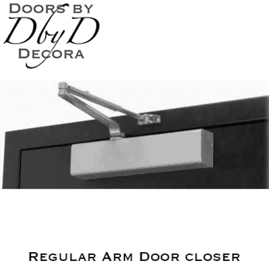 Norton regular arm door closer.