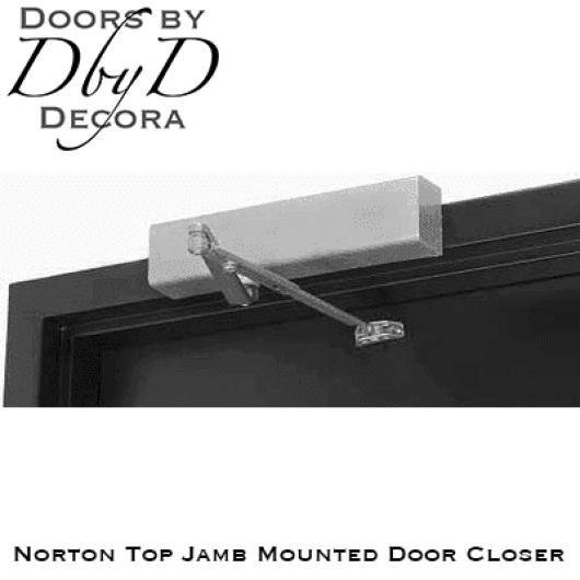Norton top jamb mounted door closer.