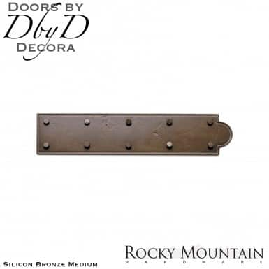Rocky Mountain silicon bronze medium ohs218 ornamental strap hinge.