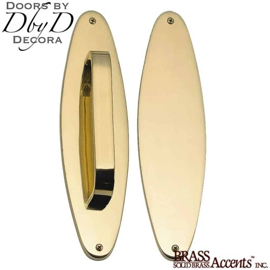 Brass Accents oval push/pull set.