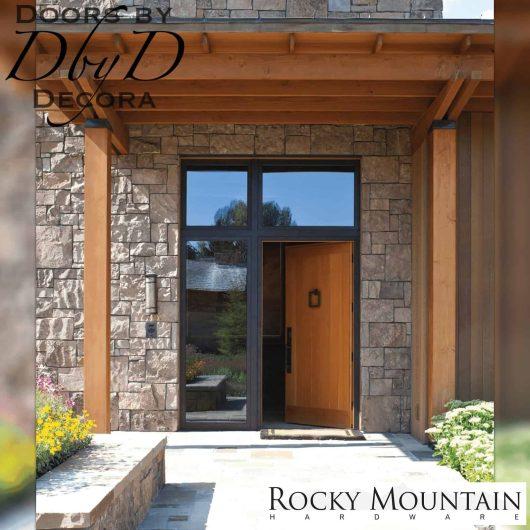 "Rocky Mountain 8"" square door knocker."