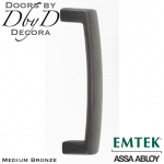 Emtek medium bronze rustic modern door pull.