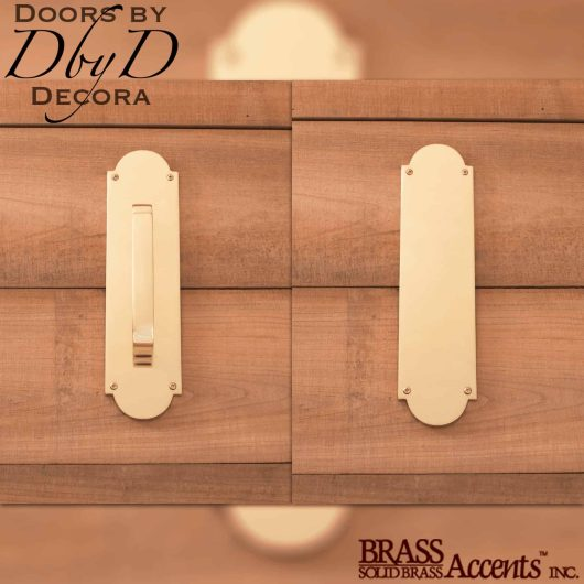 Brass Accents traditional push/pull set.