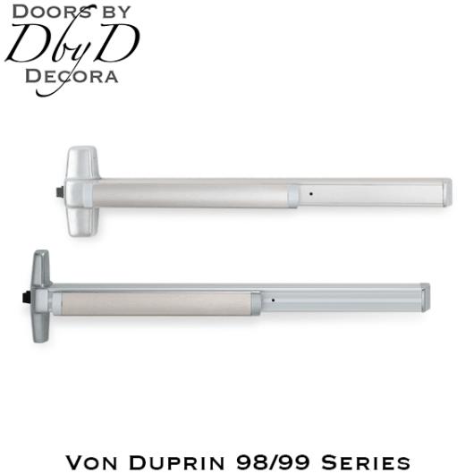 Von Duprin 98/99 series exit panic hardware.
