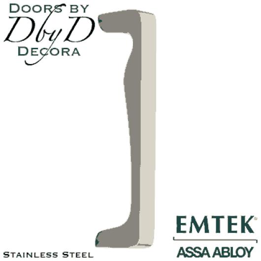 Emtek stainless steel zeus door pull.