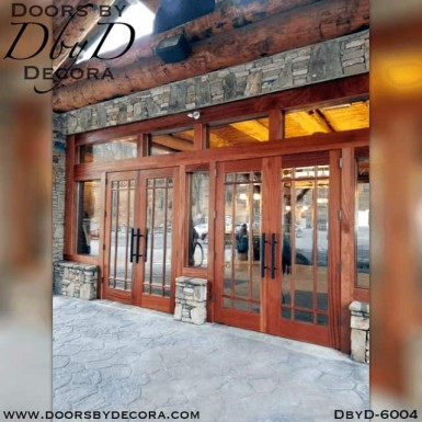 contemporary commercial doors