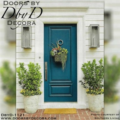 A beautiful painted solid wood door made by Doors by Decora and featured in Southern Living magazine.