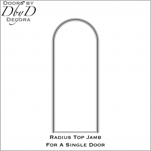Radius jamb for a single door
