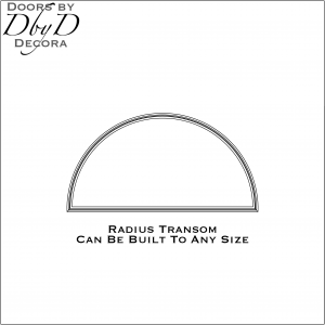 Radius transom drawing
