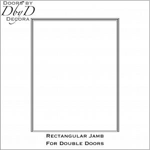 Rectangular jamb drawing for double doors