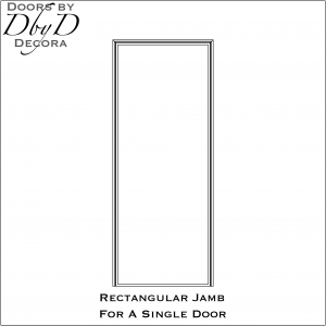 Jamb drawing for a single door