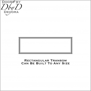 Rectangular transom drawing