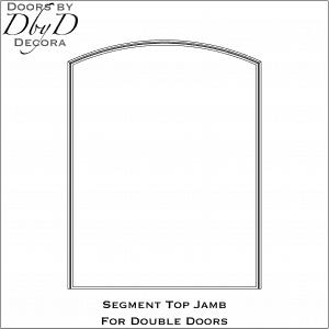 Segment jamb for double doors
