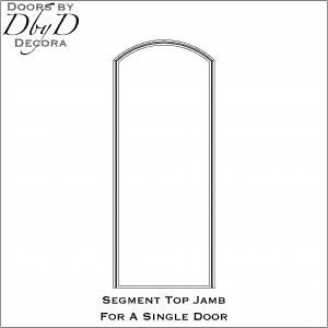 Segment jamb for single door
