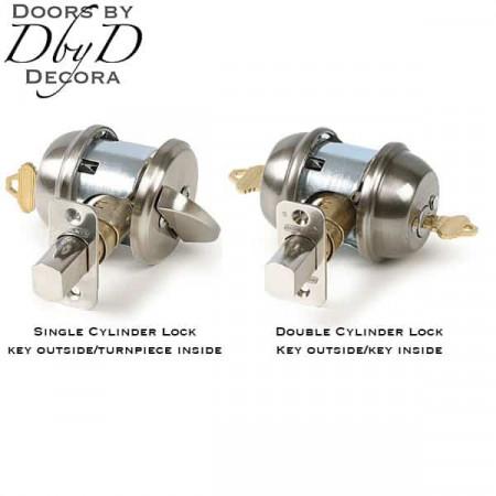 single vs double cylinder locks